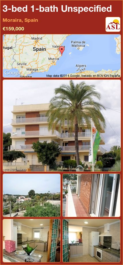 3-bed 1-bath Unspecified in Moraira, Spain ►€159,000 #PropertyForSaleInSpain