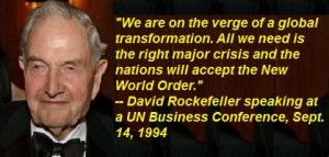 Rockefeller's Global Elite Dreams to Remake Society - ...David Rockefeller's Global Elite have done everything possible to overthrow society. The Rockefeller Brothers Fund, he has given huge sums to organizations like Planned Parenthood. Margaret Sanger was backed by Rockefellers because of her interest in eugenics, from which arose what eventually became Planned Parenthood. PP was designed to eliminate those individuals deemed less than ideal, which normally included minorities...
