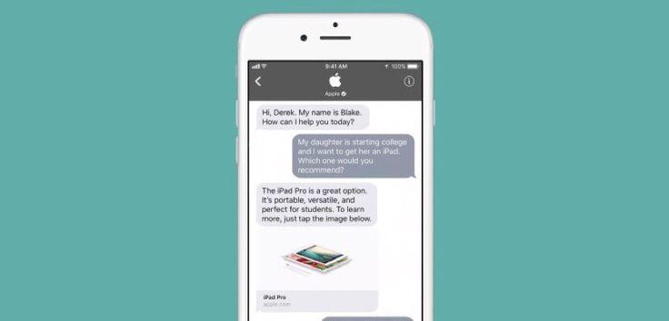 iOS 11 facilitará que puedas chatear directamente con las empresas - https://www.actualidadiphone.com/ios-11-facilitara-que-puedas-chatear-directamente-con-las-empresas/