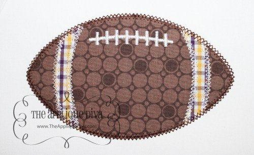machine embroidery fall designs   Fall Football Embroidery Design Machine Applique
