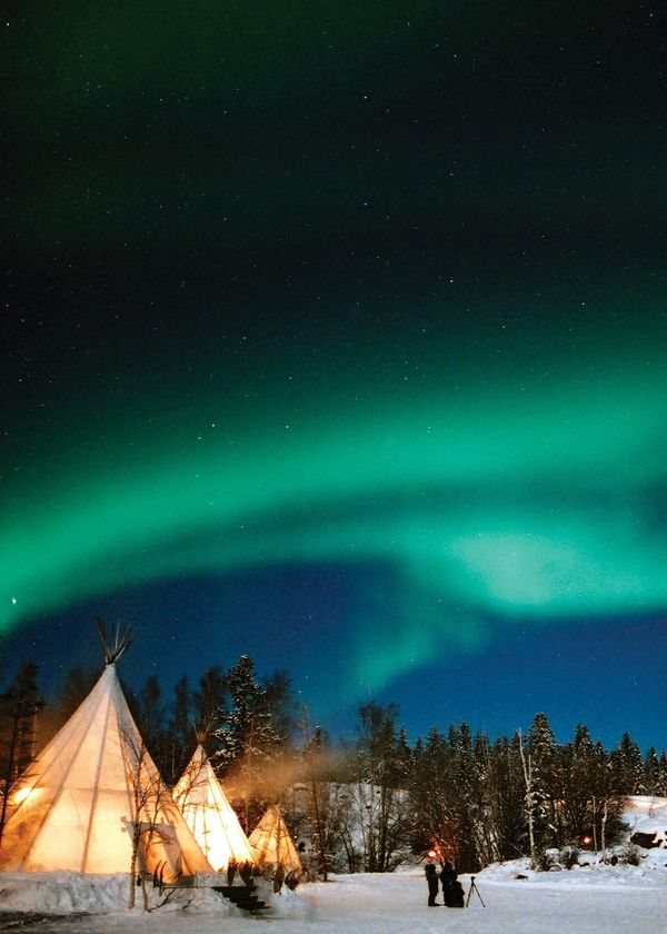 Aurora Borealis (Northern Lights) in Canada. #readysetholiday #travel                                                                                                                                                                                 More