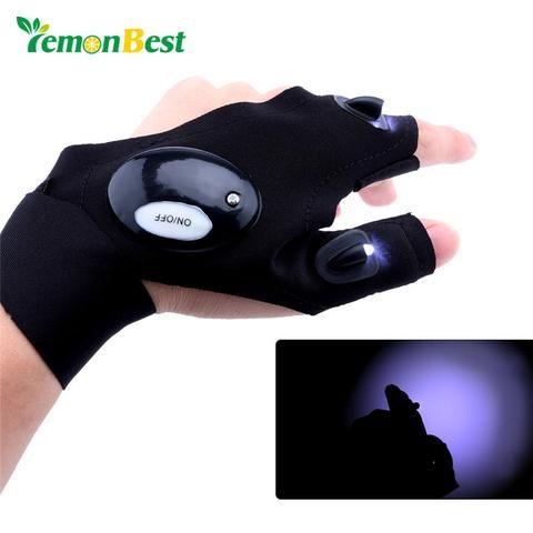 Outdoor Camping Night LED Flashlight Torch Multipurpose Hand Glove