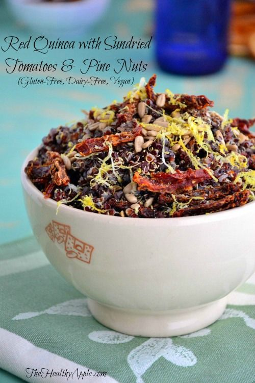 Red Quinoa with Sundried Tomatoes and Pine Nuts | TheHealthyApple | # ...