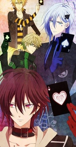 Amnesia- I love it how they all have different card suits. I also love their clothes.
