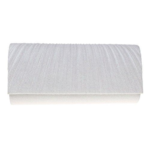 New Trending Clutch Bags: Fashion Road Evening Clutch, Womens Luxury Glitter Pleated Clutch Purses, Handbag For Wedding  Party White. Fashion Road Evening Clutch, Womens Luxury Glitter Pleated Clutch Purses, Handbag For Wedding  Party White  Special Offer: $12.48  322 Reviews Features: Material: Satin Size: 9.1*4.1*2.2 inch Color: White/Black Package: A Evening Clutch Design  Occasion This floral...