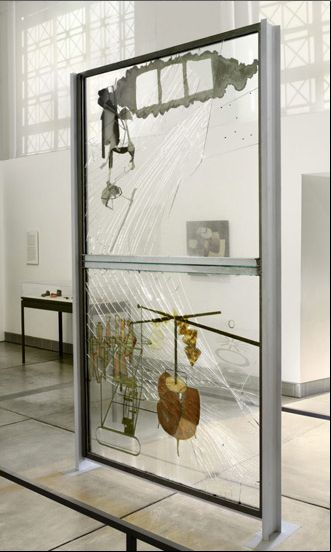 Marcel Duchamp, The Bride Stripped Bare by Her Bachelors, Even (The Large Glass), 1915-23