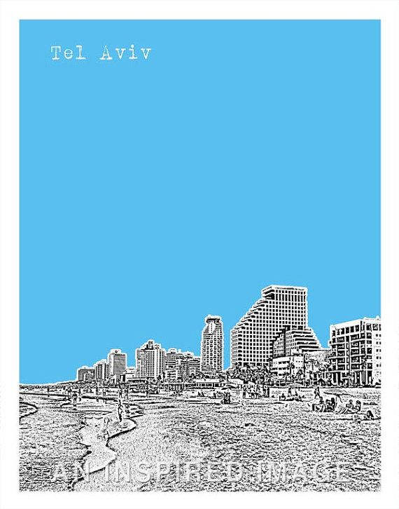 Tel Aviv Skyline Poster Tel Aviv Beach Israel von AnInspiredImage. Like a Local: Tel Aviv's Top 18 Non-Touristic Things To Do