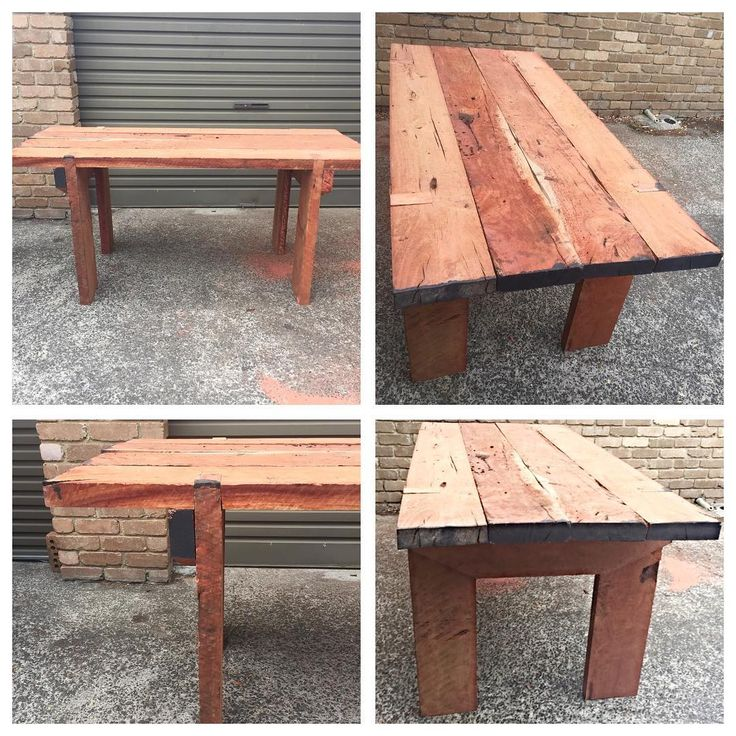 JWB Handmade Furniture: Rustic Garden Table Completed.