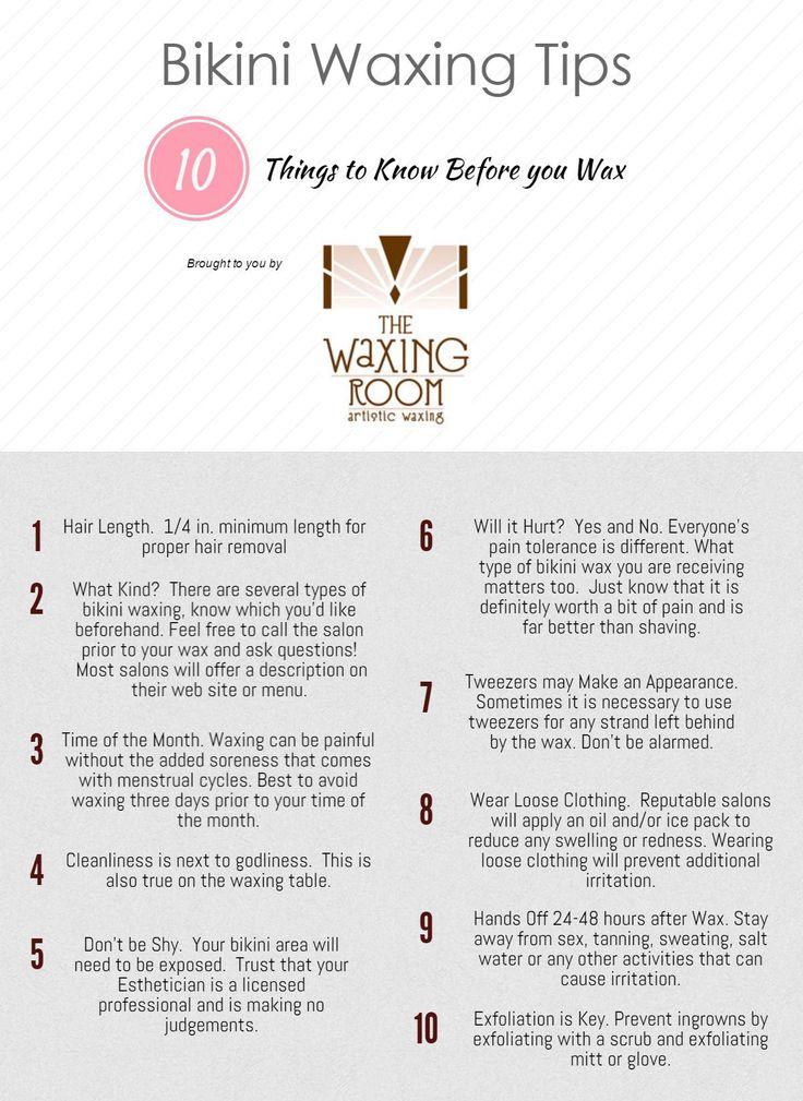 Bikini Waxing 101 - Know before you Wax! www.thewaxingroom.com