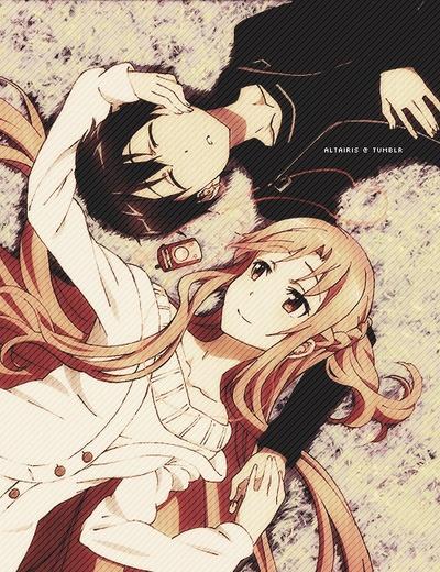 Kirito and Asuna <3 Sword Art Online!