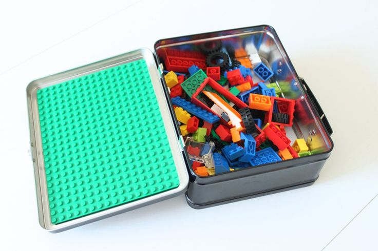 Use a lunchbox to make a useful travel kit for your child's Lego!