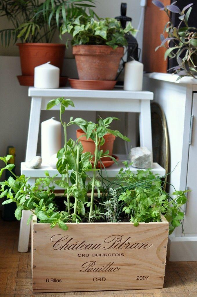 Transformer une caisse en bois en jardinière