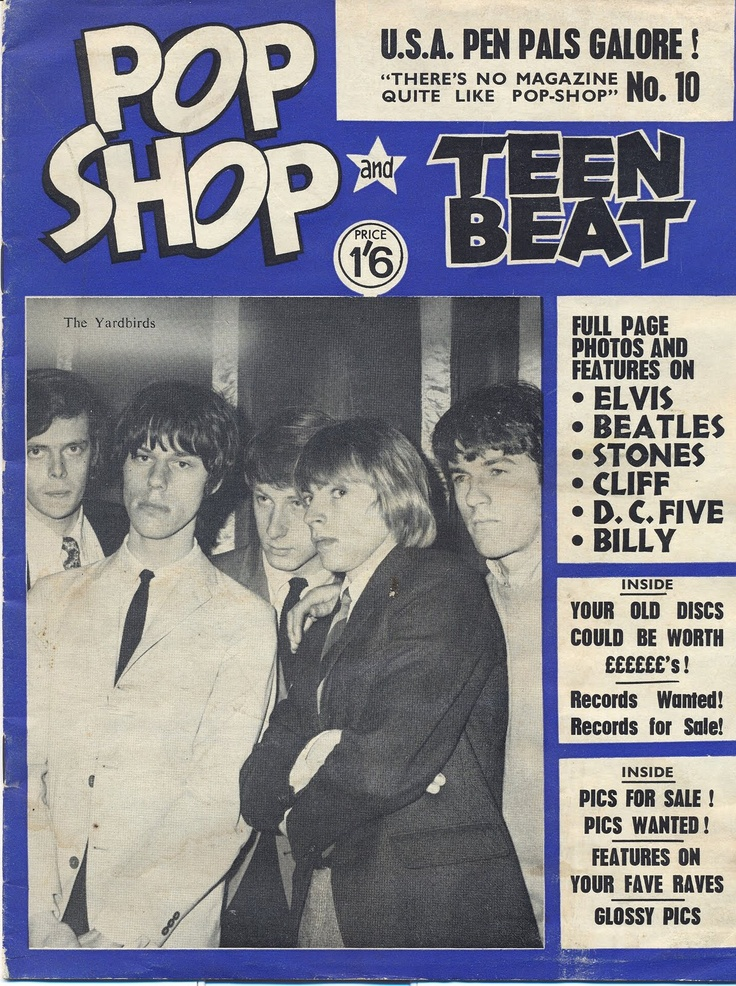 Pop Shop and Teen Beat magazine (UK) 1965 — The Yardbirds ...