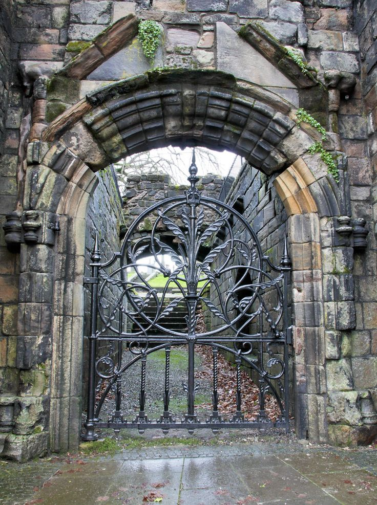 Mar's Wark Main Gate - ruins of a 16th century castle in Stirling, Scotland.