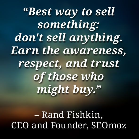 Friday Quote: Rand Fishkin quote about sales and marketing - Creative Journeyman