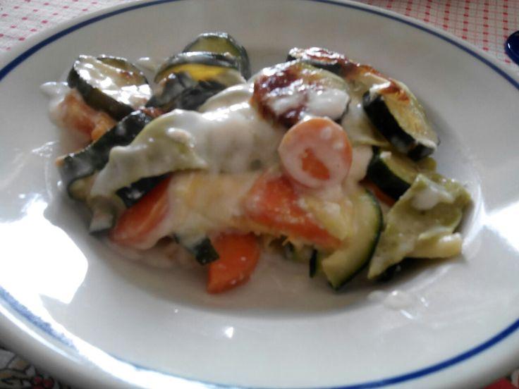 Lasagne con carote e zucchine.