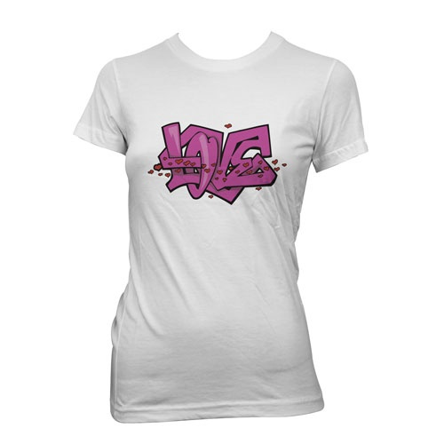 Hvit-Tskjorte-printet-og-trykket-med-TTC-transferpapir-love-graffitti  Lys tskjorte trykket med TTC Transferpapir http://www.themagictouch.no