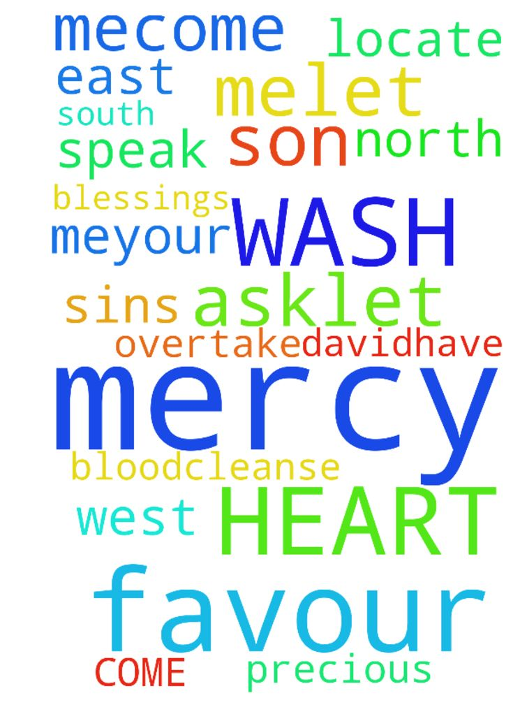 LORD JESUS HAVE MERCY ON ME,COME INTO MY HEART ,WASH - LORD JESUS HAVE MERCY ON ME,COME INTO MY HEART ,WASH ME WITH YOUR PRECIOUS BLOOD,CLEANSE ME OF MY SINS, SON OF DAVID,HAVE MERCY ON ME,YOUR MERCY AND YOUR FAVOUR IS ALL I ASK,LET YOUR MERCY AND YOUR FAVOUR SPEAK FOR ME,LET YOUR MERCY AND YOUR FAVOUR AND YOUR BLESSINGS LOCATE AND OVERTAKE ME FROM THE NORTH, SOUTH, EAST AND WEST IN JESUS NAME ,AMEN. Posted at: https://prayerrequest.com/t/Qho #pray #prayer #request #prayerrequest
