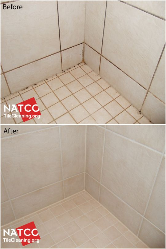 Cleaning shower mold and recaulking shower.