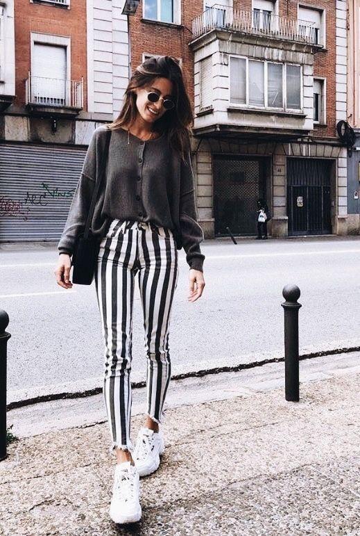 Hosen mit Streifen : der Muster-Trend 2019