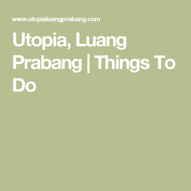 Utopia, Luang Prabang | Things To Do