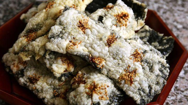 Korean seaweed chips (Gim-bugak: 김부각) - YouTube