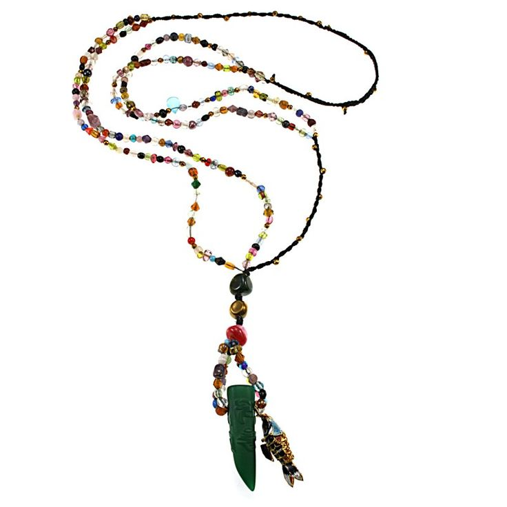Boho chic necklace with tibetan agate