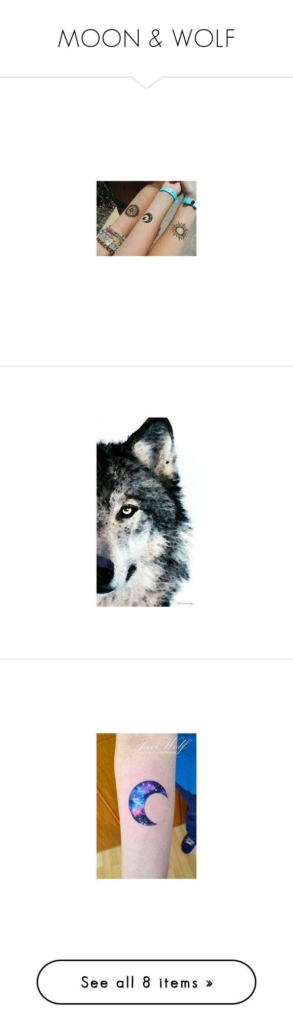 moon wolf by killasuki liked on polyvore featuring home home decor - Red Home Decor Accessories