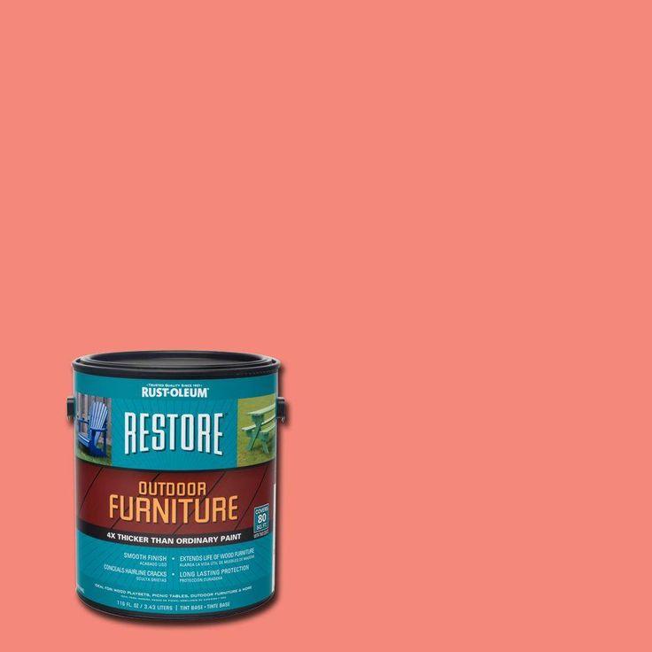Rust-Oleum Restore 1 gal. Coral (Pink) Outdoor Furniture Coating
