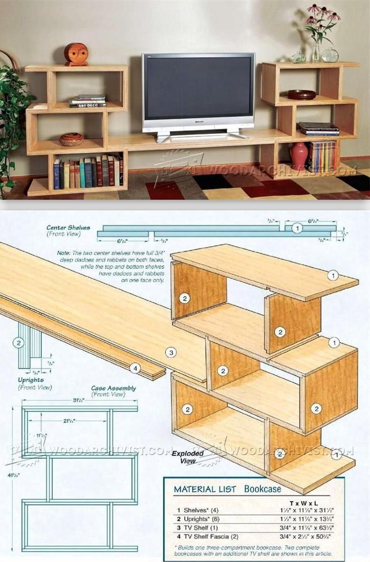 Modular TV Entertainment Center Plans - Furniture Plans and Projects | WoodArchivist.com