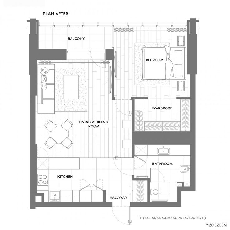 45 best studylayout images on pinterest house floor plans apartment kiev by yodezeen 23 malvernweather Choice Image