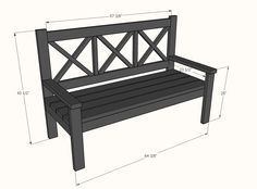 Ana White   Build a Large Porch Bench - Alaska Lake Cabin   Free and Easy DIY Project and Furniture Plans