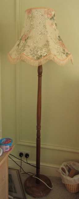 Standing lamp with vintage shade