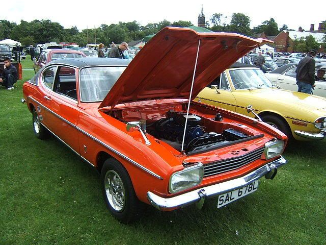 MK1 Ford Capri Facelift 1972 I originally had the GT version of this L, in the same colour (Sebring Red).  The back end on these was exceptionally light, which made the taking of roundabouts at high(ish) speed great fun.  I added chrome 8 spoke wider wheels,  a rear jack-up kit. Sadly she got stolen and was then recovered, damaged and minus the goodies including the newly purchased alarm which was unfitted and still in the box under front seat (how those thieving SOBs must have chuckled!)