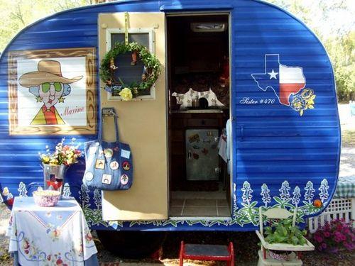 sassy grandma trailerVintage Trailers, Blue, Travel Trailers Vintage, Grandma Trailers, Camps, Campers Vintage, Vintage Travel Trailers, Travel Collection, Vintage Campers