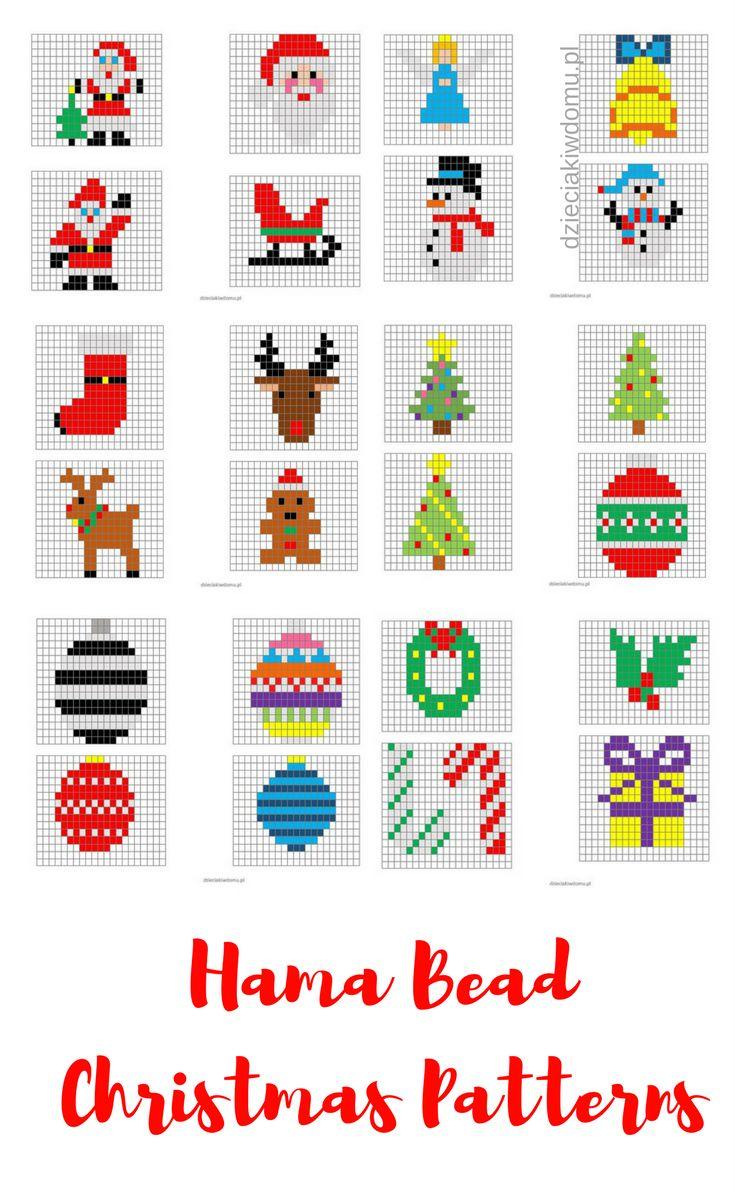 christmas perler beads snow flakes - Christmas Perler Bead Patterns