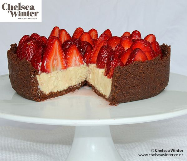 White Chocolate and Fresh Berry Cheesecake by Chelsea Winter ... yummy!