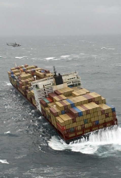 one of several shots of cargo ship