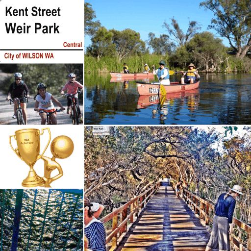 Kent Street Weir Park, Wilson WA   Eco recreational area Canoeing, bike and walk Trails picnic area and more