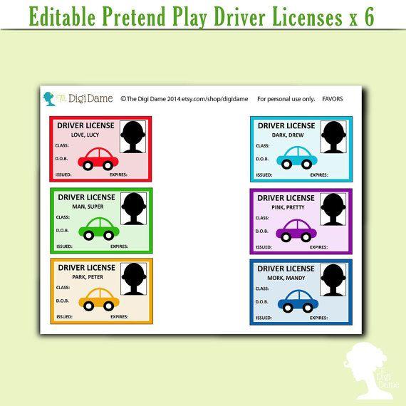 Printable Driver Licenses Editable Buy 2 Get 1 Free