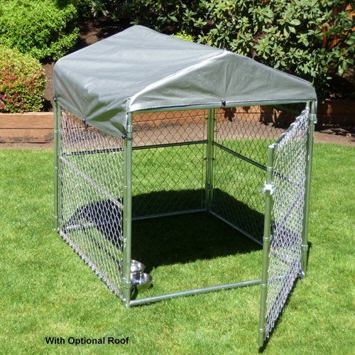 Chain Link Outdoor Dog Kennel....put one in the garage maybe?
