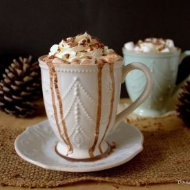 This French Vanilla Hot Chocolate is so simple yet so perfectly rich and creamy!
