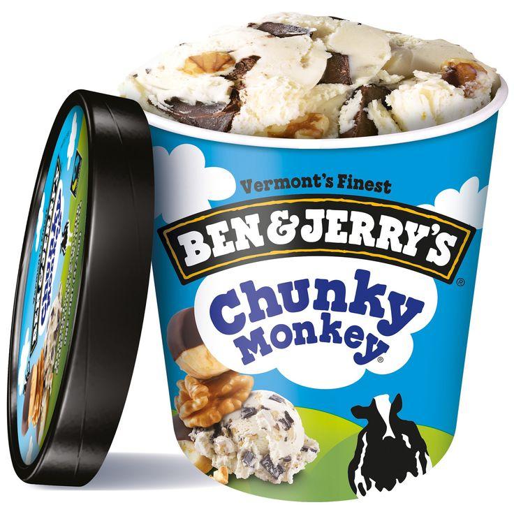 Ben & Jerry's Chunky Monkey Ice Cream – 16oz   – B E N  A N D  J E R R Y ' S
