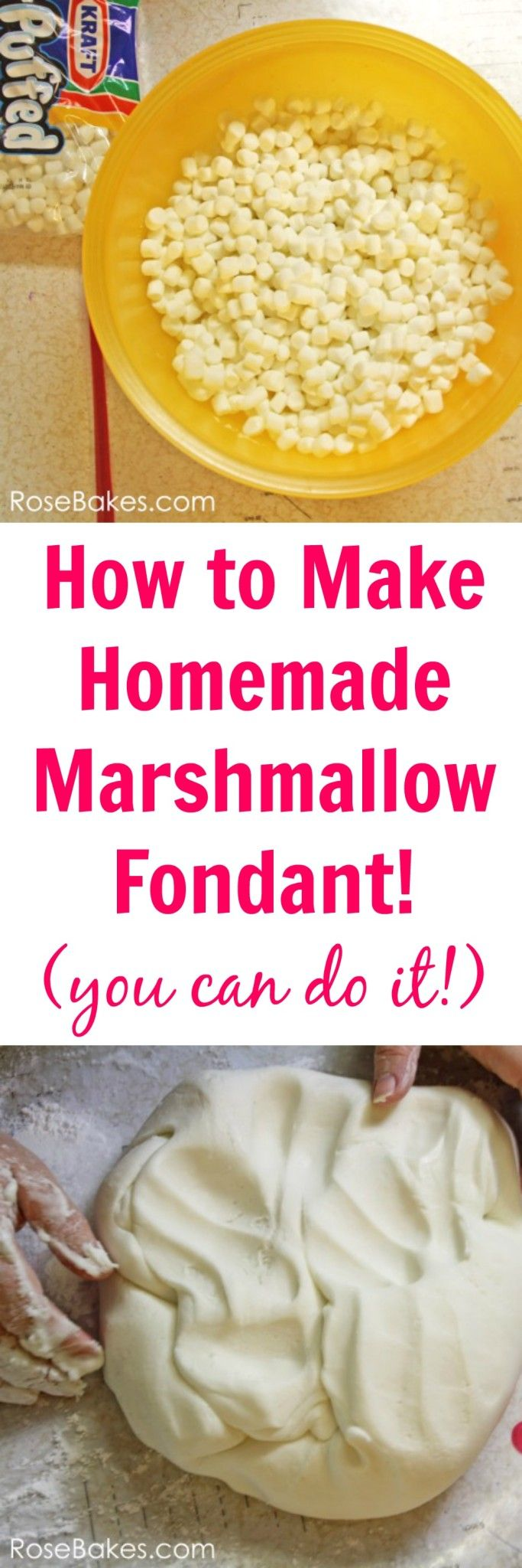 [Actually, odds are I can't, but mights as well pin anyway.] How to Make Homemade Marshmallow Fondant