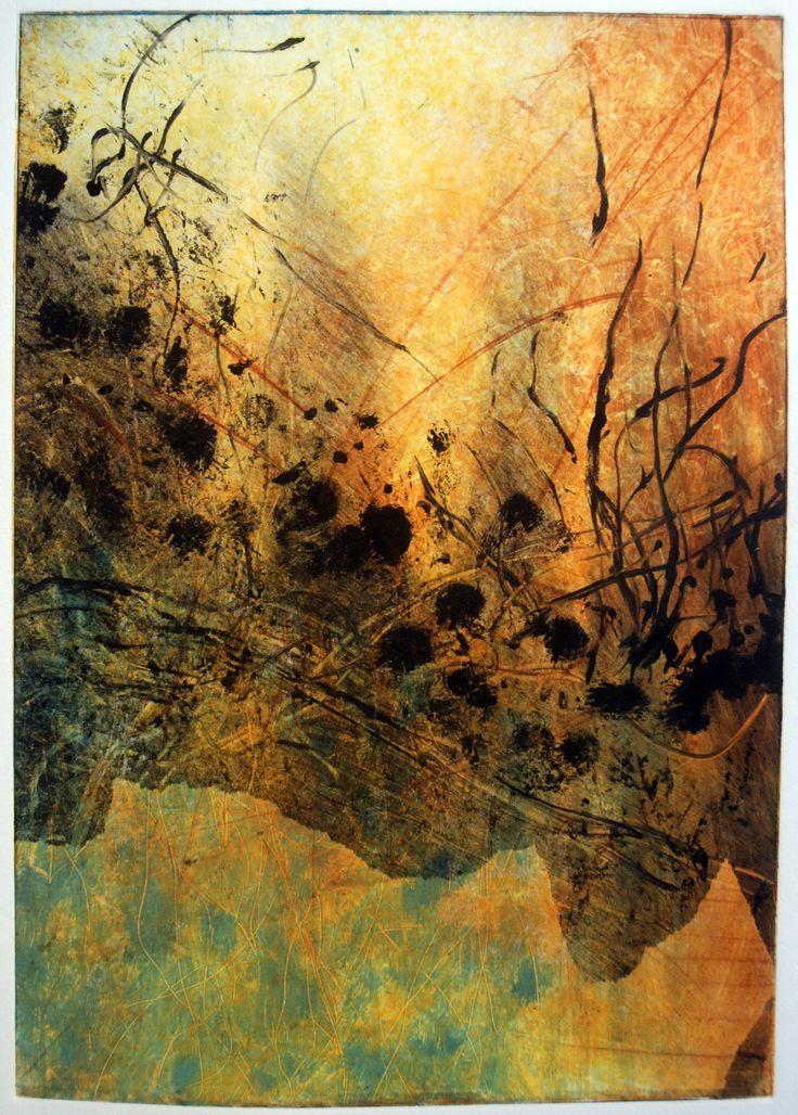 Untitled monoprint by Jane Rusden, 2007
