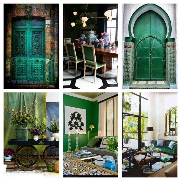 Decorating With Emerald Green: Colour Of The Year: Emerald Green
