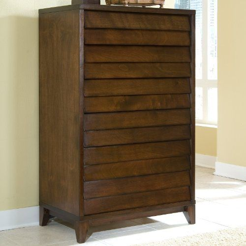 Canali 5 Drawer Chest by Ligna. $899.99. Modern style with louvered drawer fronts. Warm, rich mocca finish. Tropical hardwood solids and walnut veneers. 5 drawers provide ample storage. 36W x 22D x 58.5H inches. If you're short on closet space, the Canali 5 Drawer Chest will help you maintain a neat, organized, and stylish bedroom. This wood chest boasts clean lines and a warm, rich mocca finish for an attractive modern style. You'll find plenty of room inside five dra...