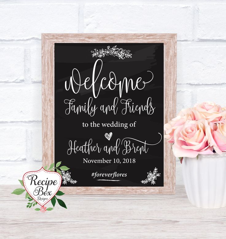 Welcome Wedding Sign Welcome Sign Printable Download