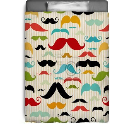 Mustache Seamless Pattern In Vintage Style Bedding At  Http://www.visionbedding. Home Decor ...