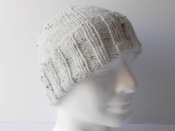 Knit Men's Hat. Watchman's Cap. Warm Skiing hat. by AluraCrafts